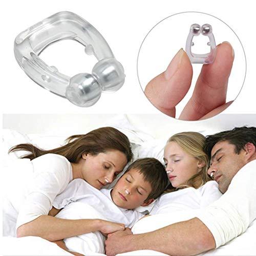 4 unids Mini tapón magnético de silicona, expansor nasal anti ronquidos, soluciones para ronquidos, dispositivos para ronquidos
