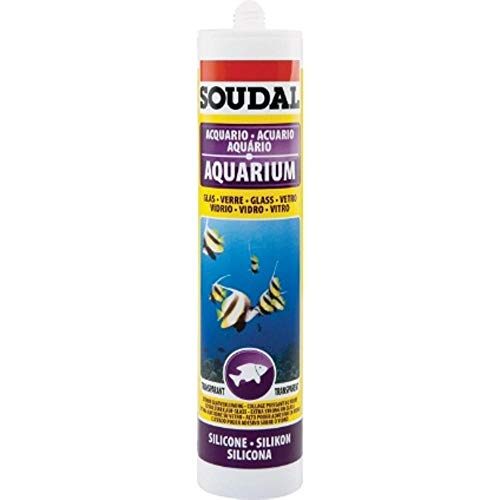 Soudal-silicone per acquario da 300 ml, colore: trasparente