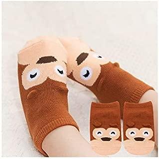 Lovely Socks Children Cotton Mesh Boats Socks Kids Spring and Autumn Short Tube Ship Socks(Grey) Newborn Sock (Color : Brown)