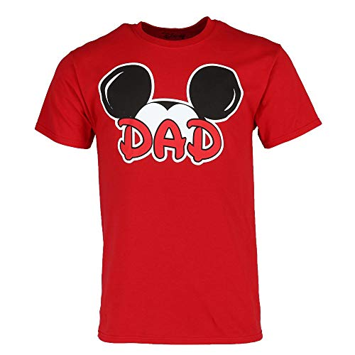 Disney Mickey Mouse Dad Fan T Shirt, Large Red