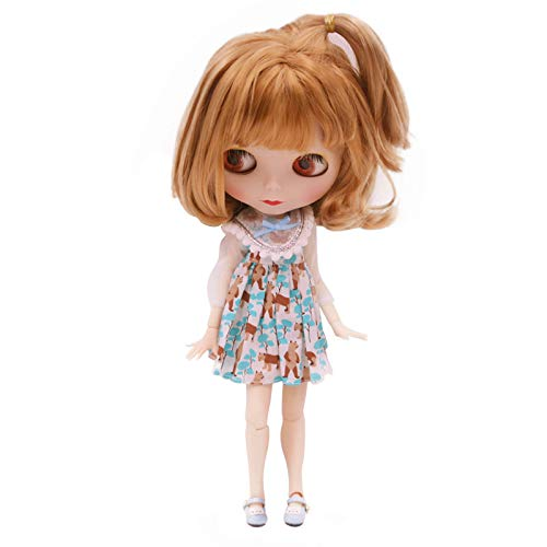 CUTEBEE 1/6 BJD Doll is Similar to Neo Blythe, 4-Color Changing Eyes Matte Face and Ball Jointed...