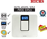 HICKS Digital Weighing Scale (5kg – 180kg) with Batteries