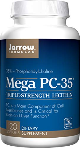 Jarrow Formulas Jarrow Mega Pc-35 Triple Strength Lecithin (Gluten Free, 120 Softgels), 1 Units