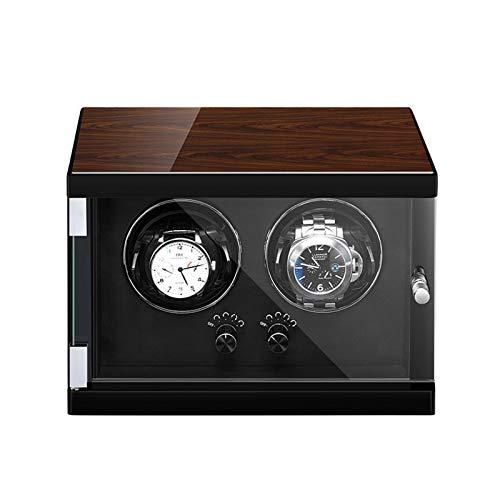 Jlxl Caja Enrolladora Reloj Doble Automática Controlado Independientemente Motor Silencioso Almohada Reloj Ajustable Exterior Pintura Piano Accesorios (Color : Black)