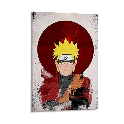 SSKJTC Arte de pared para decoración del hogar Decoración de pared Anime Naruto Vista frontal Póster Cuadros sobre lienzo 60 x 90 cm