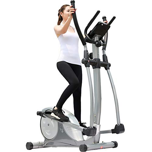 Elliptical Cross Trainer Exercise Bike Elliptical Trainer And Exercise Bike With Seat And Easy Computer Home Office Fitness Workout Machine (Color : Black, Size : 133x74x160cm)