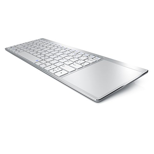 Aplic - Wireless Slim Tastatur mit Touchpad - Multimedia Keyboard im Slim Design - Multitouch-Gestensteuerung - kompatibel mit Apple