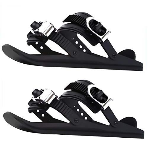 EEUK Tragbare Skiboard Snowblades, Verstellbare Skischuhe, Mini-Ski, Skifahren im Freien Wintersportausrüstung