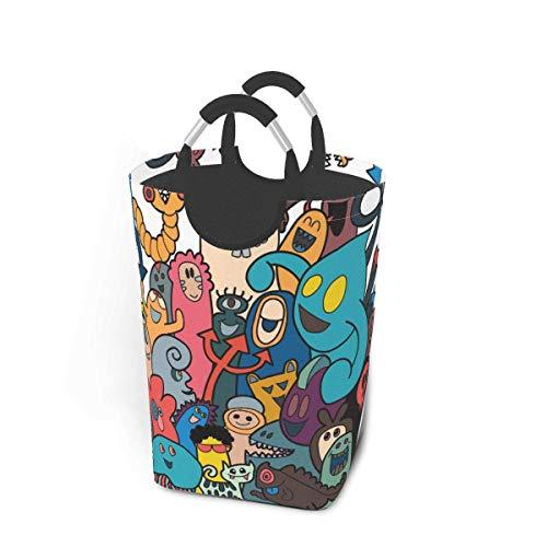 Panier à linge mignon amusant monstre coloré grand sac à linge sale pliable grand panier de rangement en tissu paniers de rangement en tissu rectangle plier poubelle à laver organisateur de vêtements