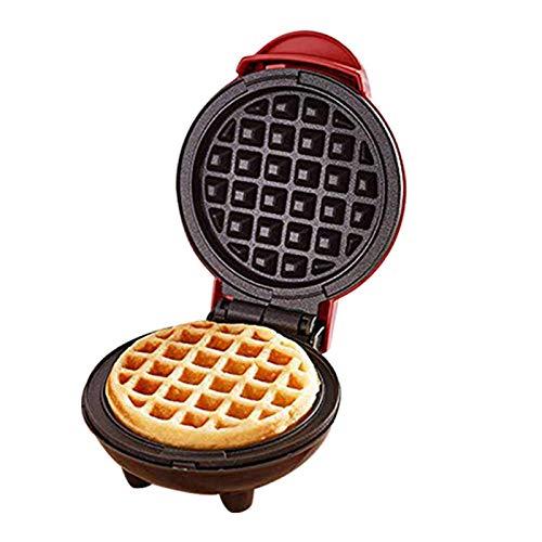 Mini gofrera para preparar gofres individuales, 350 W, fabricante eléctrico para tortitas, color rojo