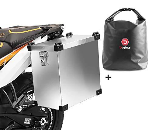 Set Motorrad Alukoffer Bagtecs Namib 35l + Drybag Innentasche Seitenkoffer
