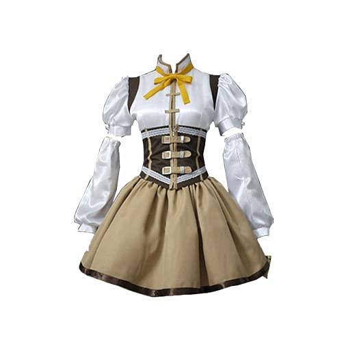 Gosbeliy 10PCS Anime Puella Magi Madoka Magica Tomoe Mami Novedad Cosplay para disfraces de fiesta Vestido medieval de corte francs para mujer Regalo de alta calidad