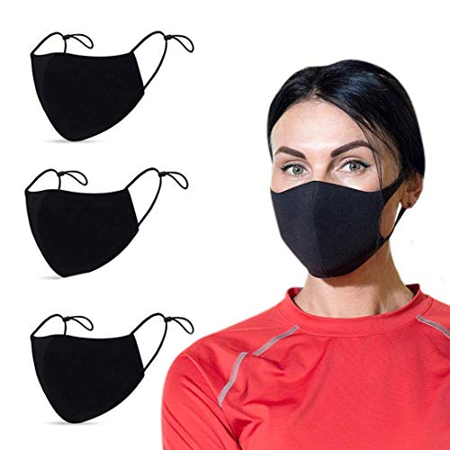 WODFitters Cloth Face Mask with Adjustable Ear Loops for Gym and Life - 3 Pack