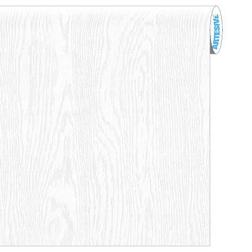 Artesive WD-056 Frassino Bianco Assoluto larg. 60 cm AL METRO LINEARE - Pellicola Adesiva in vinile effetto legno per interni per rinnovare mobili, porte e oggetti di casa