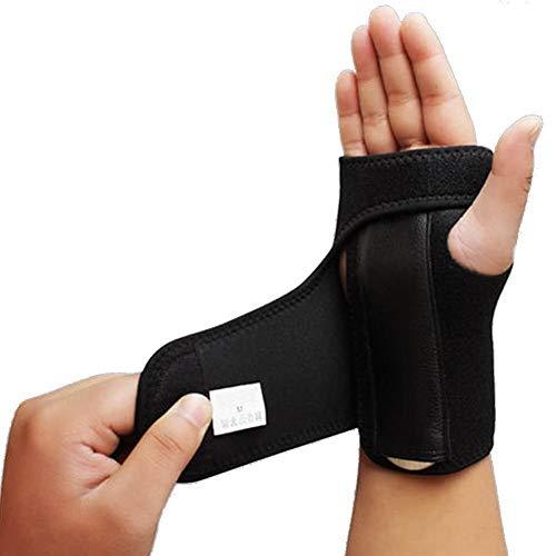 UOYAN Sportverletzungen Handgelenkstütze Karpaltunnel Brace Hand Brace Abnehmbare Handgelenkschiene for Sehnenentzündung Daumenstütze Maus-Hand Daily (Color : Left Hand)