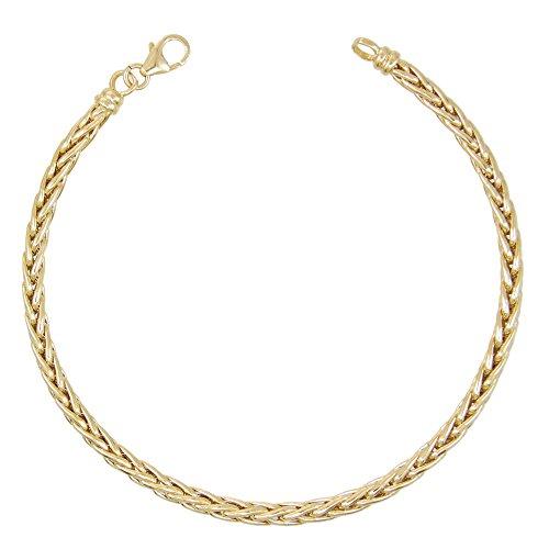 Bracciale da donna in oro giallo con maglie Palmier