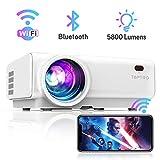 Vidéoprojecteur WiFi, TOPTRO 5800 Lumens Bluetooth Mini Projecteur Portable Soutien Full HD 1080P Rétroprojecteur Home Cinéma, Zoom X/Y, Contraste 6000:1, LED 60000 Heures