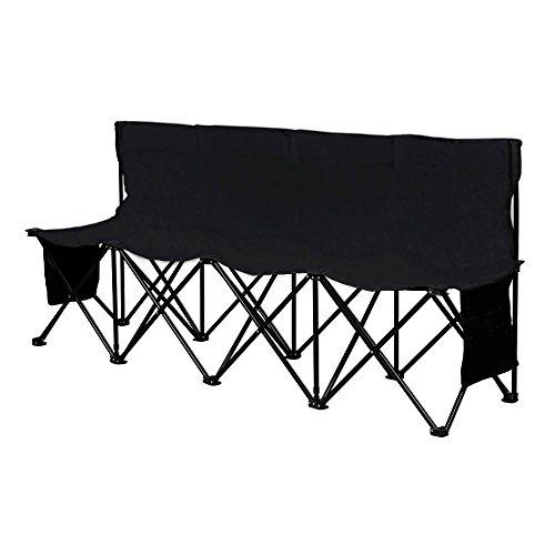 Yaheetech Campingbank, Gartenbank, tragbar Sitzbank, Klappbank, Campingstuhl mit Tragetasche, Faltbank mit Lehne für 4 Personen