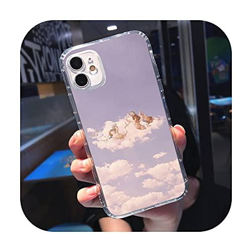 Renaissance Angels - Funda para iPhone 5, 5S, 5C, se 6, 6S, 7, 8, 11, 12 Plus Mini X XS XR Pro MAX-A11-Para iPhone 5C