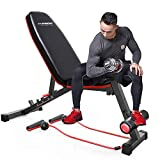 Adjustable Weight Bench Exercise Workout Bench for Full Body Workout Home Gym Strength Training...