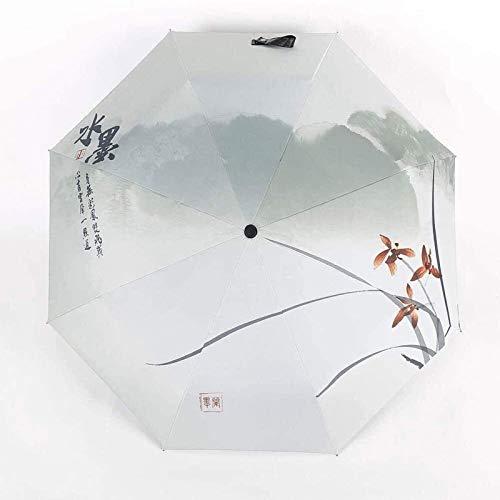 sombrilla Paraguas Parasol Pintura Antigua Creativa Paraguas Pintado A Mano Paraguas De Doble Uso Protector Solar 30% Paraguas De Tinta Unisex Viajes Paraguas Soleado(Color:D)
