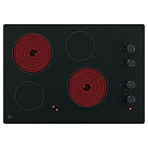 "GE JP3030DJBB 30"" Black Electric Smoothtop Cooktop"