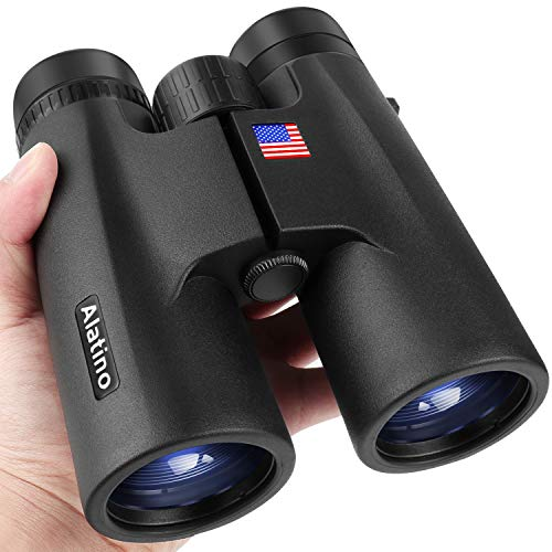 10x42 Compact Binoculars for Adults, BaK-4 Roof Prisms with FMC Lightweight Binoculars