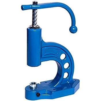 Ista Tools Presse /à /œillet Rivets Creux 6 mm 9 mm Noir 12 mm Acier 7 mm 1, Set Presse + Rivets Creux 12 x 10 mm