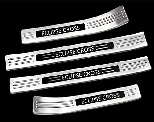 4 Piezas Coche Umbral Puerta para Mitsubishi Eclipse Cross 2017-2021, Acero Inoxidable Pedal La Puerta Coche Protector Accesorio