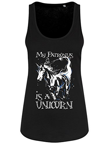 Damen Tank Top My Patronus is A Unicorn leicht schwarz