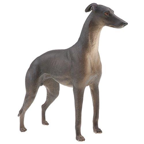 Fenteer Lebensechte Plastik Wildtier / Haustier / Zootier Figur Modell Tierspielzeug für Kinder - Windhund - A