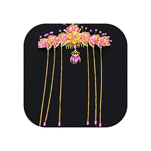 Peigne à cheveux de style traditionnel chinois pour mariée