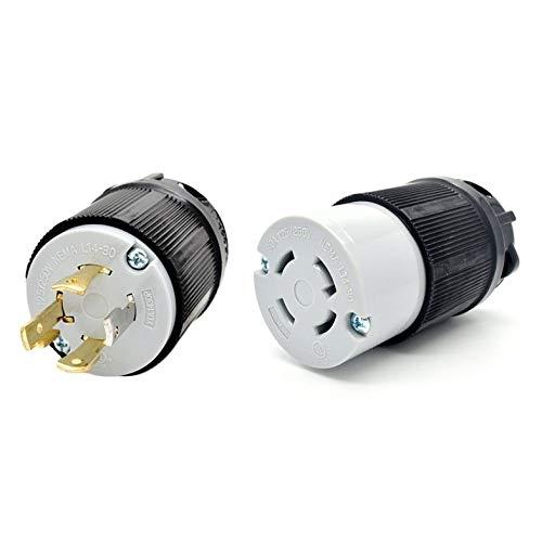 ghfcffdghrdshdfh NEMA L14-20 L14-30 Generator Locking Plug 125V 250V 4 Prong Plug + Socket