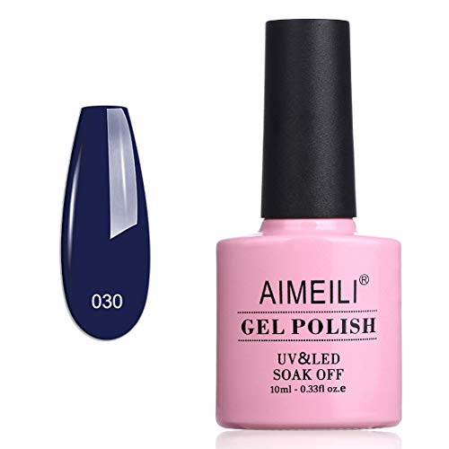 AIMEILI UV LED Gellack ablösbarer Gel Nagellack Blau Gel Polish - Navy Seals (030) 10ml