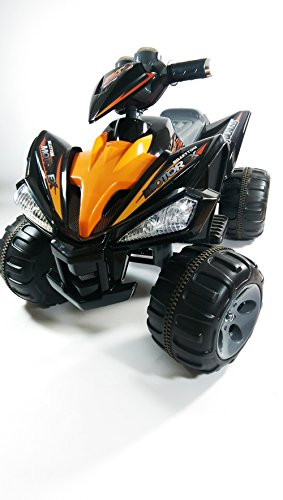Wicked Imports Roadster Motorcross Boys Girls Kids 6V Rechargeable Battery Power Electric Ride On Quad Bike Car ATV