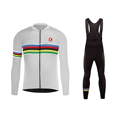 Uglyfrog 2018-2019 Nuevo De Invierno Mantener Caliente Manga Larga Maillot Ciclismo Hombre Bodies +Long Bib Pant with Gel Pad Winter Style