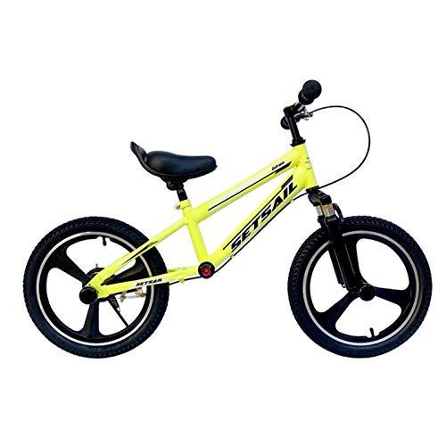 Bicicletas sin Pedales Sin Bicicleta de Pedales con Freno, Bicicleta de Equilibrio para Niños y Estudiantes para Adolescentes para Niños de 125-150cm de Altura, Manillar y Reposapiés Antideslizantes