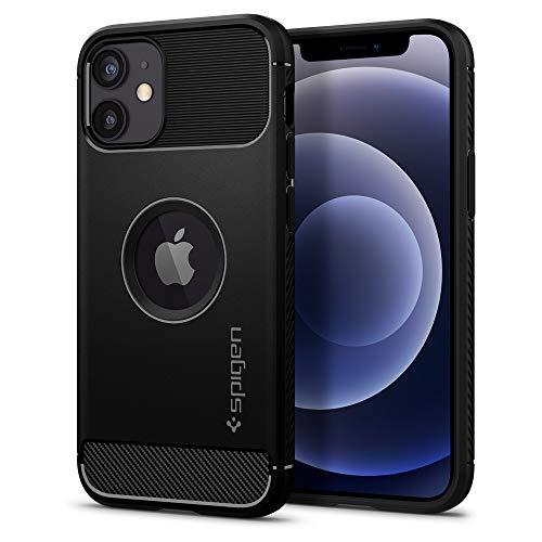 Spigen Rugged Armor Designed for iPhone 12 Mini Case (2020) - Matte Black