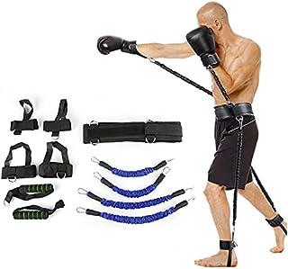 Studstränare fitness motstånd band boxningsdräkt latex rör spänning rep ben midja tränare, vikt: 63,5 kg lijiaxin