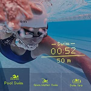FORM Smart Swim Goggles, Fitness Tracker for Pool and Open Water with a See-Through Display that Shows your Metrics while Swimming