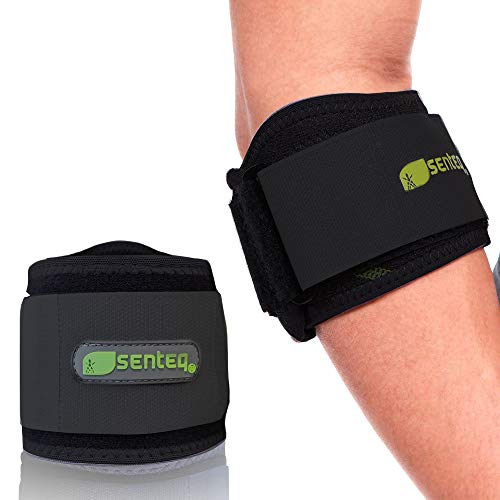 Tennis Elbow Brace Compression Sleeve Men Women Tendonitis Ulnar Nerve Entrapment Support Golfers Cubital Tunnel Arm Sleeves Forearm Pain Relief Strap Braces Weightlifting Band Golfer Neoprene BLACK