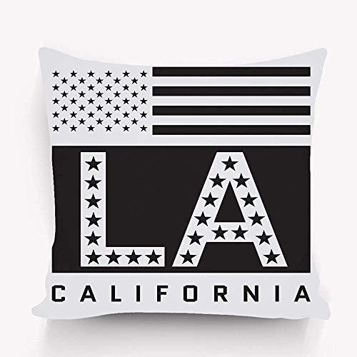 Kussensloop Slaapbank Kussensloop Afdekking Twin Zijden la Design Los Angeles Californië typografie Amerikaanse vlag Mode oorspronkelijke slijtage grafische stijl behang 45X45cm