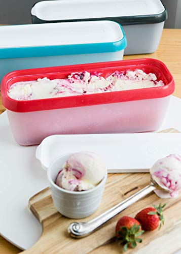 StarPack Long Scoop Ice Cream Freezer Storage Container - for Home Made Ice Cream, Freezer Containers, Meal Prep, Soup and Food Storage