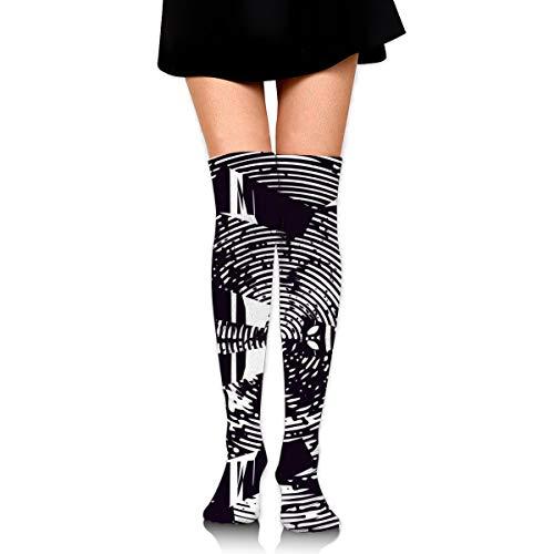 Negro y blanco textura calcetines ocasionales mujeres y hombres caliente grueso rendimiento Embarazo calcetines