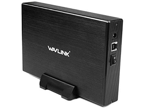 WAVLINK USB 3.0 Cárcasa para Discos Duros HDD de 3.5',Soporta SATA I/II/III, Aluminio con Indicador LED,Interruptor y Soporta 10TB(Negro)