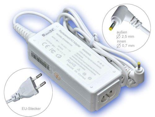 40W Alimentador Cargador Notebook AC Power compatible con Asus Eee-PC 1001PX 1001PX-Seashell 1001PXD 1005 1005H 1005HA 1005HA-A 1005HA-BLK140X 1005HA-E 1005HA-EU1X, con eurocable