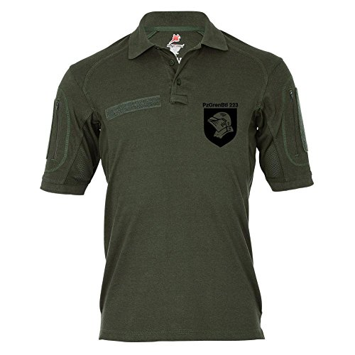 Copytec Copytec Tactical Poloshirt Alfa - PzGrenBtl 223 Panzer Grenadier Bataillon 223 BW Wappen Heer #18970, Größe:4XL, Farbe:Oliv