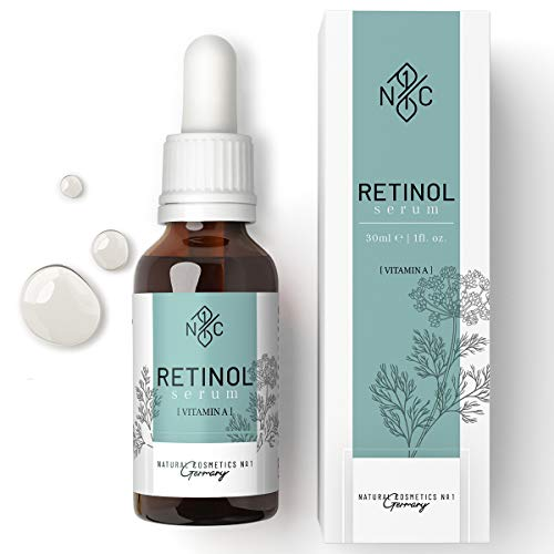 NC1 Retinol Serum based on squalane oil for face - Daily face care complex with vitamin A for a glowing skin - Natural cosmetics