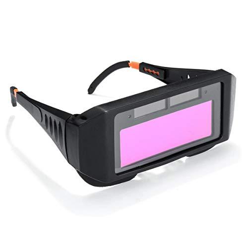 Casco de soldadura, Soldador Gafas Protección de oscurecimiento automático de soldadura máscara...