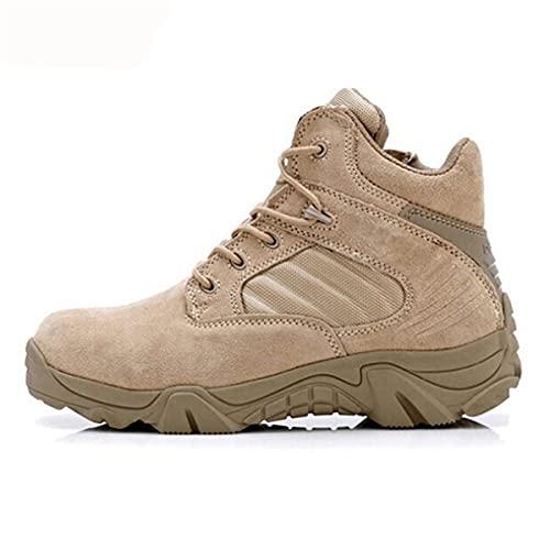 Al aire libre Senderismo Zapatos de los Hombres Profesional Senderismo Camping Caza Zapatos Impermeable Militar Botas, Sandy Low, 40 EU